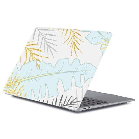 MacBook Air 13 inch case 2018 - Pastel leaf (A1932, touch id versie)