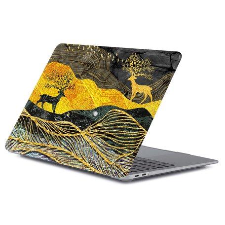 MacBook Air 13 inch case 2018 - Dieren abstract (A1932, touch id versie)