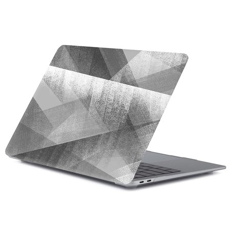 MacBook Air 13 inch case 2018 - Donkergrijs abstract (A1932, touch id versie)