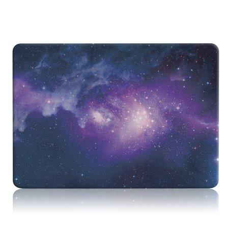 MacBook Air 13 inch case 2018 - Purple stars (A1932, touch id versie)
