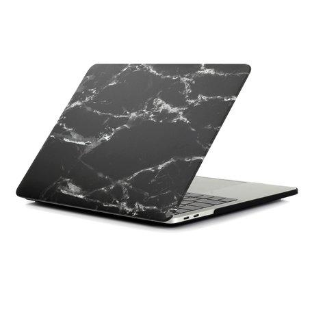 MacBook Air 13 inch case 2018 - Marble - zwart (A1932, touch id versie)