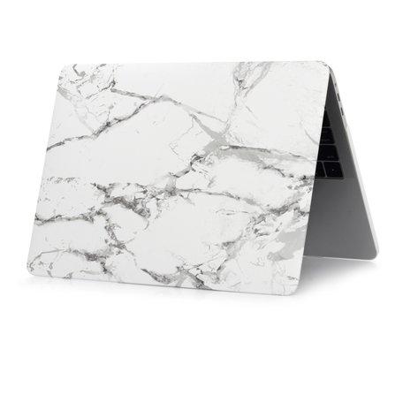 MacBook Air 13 inch case 2018 - Marble - grijs (A1932, touch id versie)