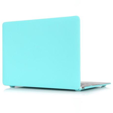 MacBook Air 13 inch case 2018 - wit blauw (A1932, touch id versie)