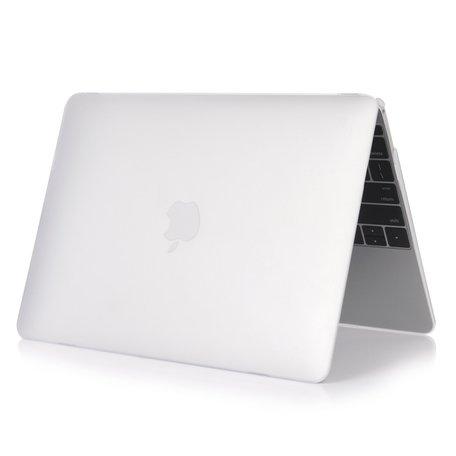 MacBook Air 13 inch case 2018 - transparant mat (A1932, touch id versie)