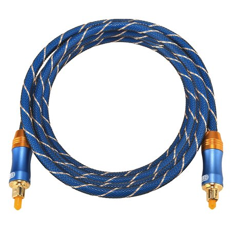 ETK Digital Toslink Optical kabel 1,5 meter / audio male to male / Optische kabel BLUE series - Blauw