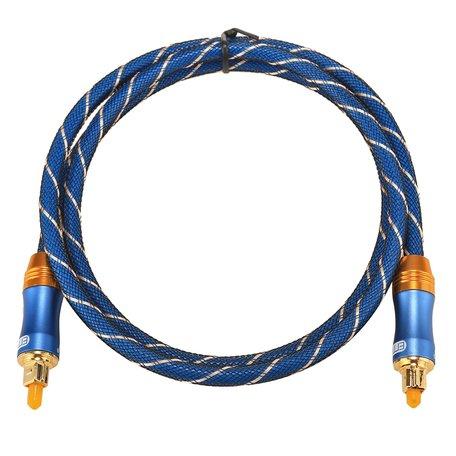 ETK Digital Toslink Optical kabel 1 meter / audio male to male / Optische kabel BLUE series - Blauw