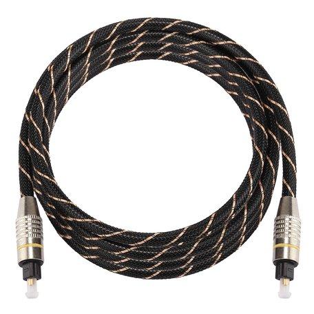 ETK Digital Optical kabel 2 meter / toslink audio male to male / Optische kabel nylon series - zwart