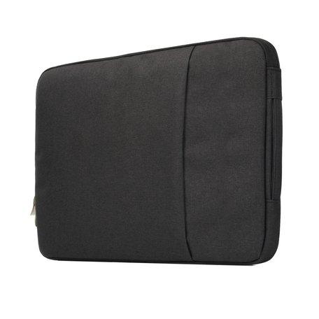 13 inch sleeve met extra vak - zwart