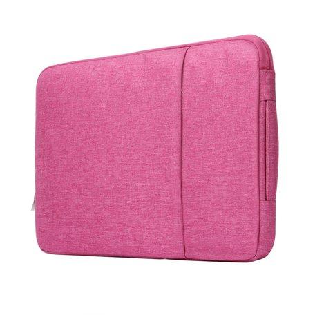 11.6 / 12 inch sleeve met extra vak - roze