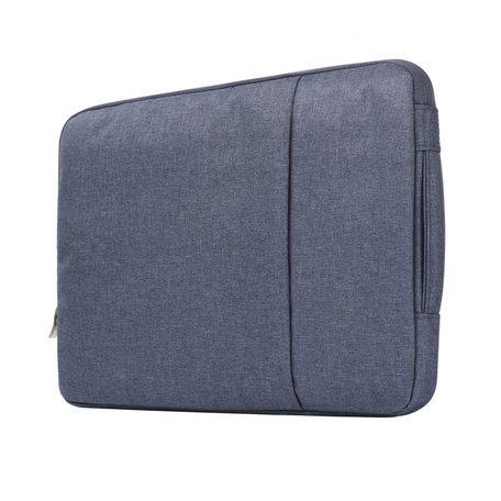 11.6 / 12 inch sleeve met extra vak - Donker blauw