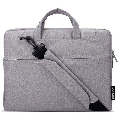 POFOKO 11.6 inch laptoptas met schouderband - Grijs