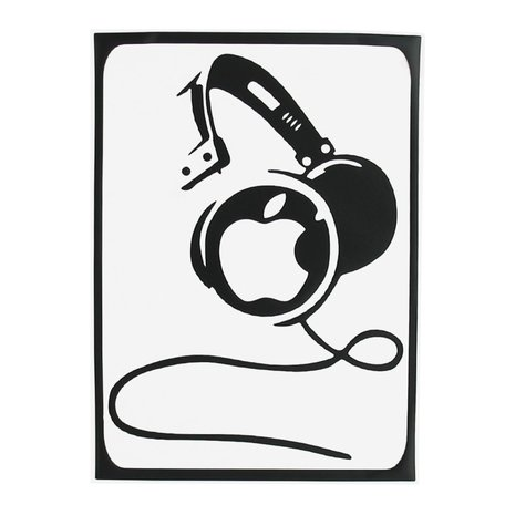 MacBook sticker - DJ headphone