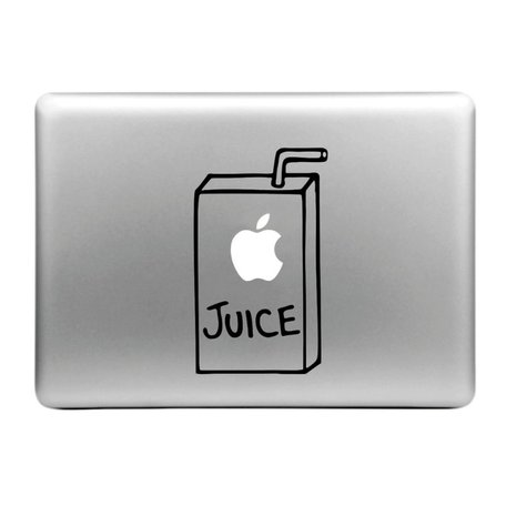 MacBook sticker - Apple Juice