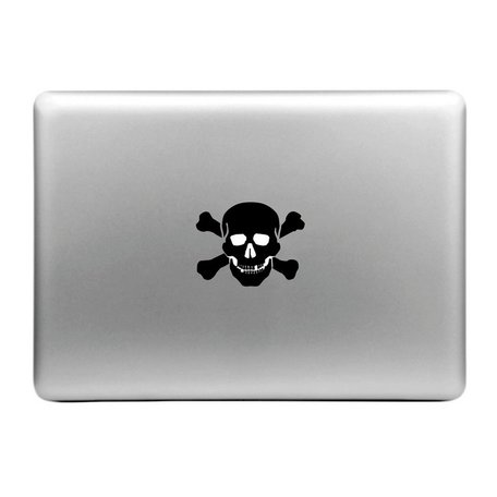 MacBook sticker - Apple skull