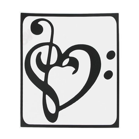 MacBook sticker - Art heart