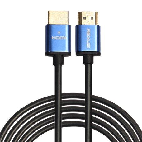 HDMI kabel 10 meter - HDMI 1.4 versie - High Speed 1080P - HDMI 19 Pin Male naar HDMI 19 Pin Male Connector Cable - Aluminium blue line