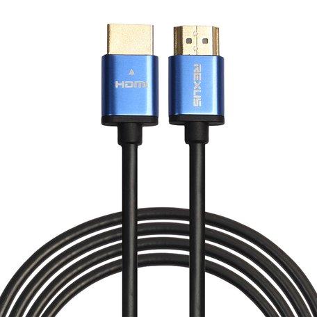 HDMI kabel 3 meter - HDMI 1.4 versie - High Speed 1080P - HDMI 19 Pin Male naar HDMI 19 Pin Male Connector Cable - Aluminium blue line