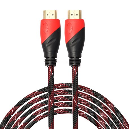 HDMI kabel 3 meter - HDMI 1.4 versie - 1080P High Speed - HDMI 19 Pin Male naar HDMI 19 Pin Male Connector Cable - Red line