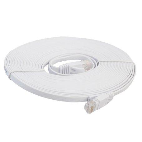 8m CAT6 Ultra dunne Flat Ethernet netwerk LAN kabel (1000Mbps) - Wit