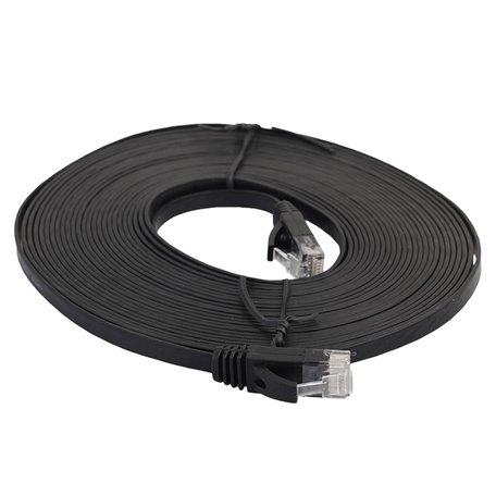5m CAT6 Ultra dunne Flat Ethernet netwerk LAN kabel (1000Mbps) - Zwart