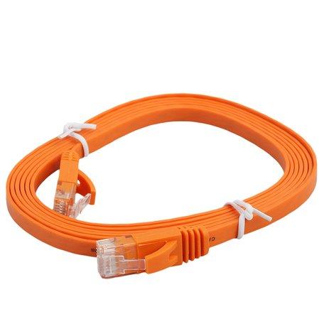 2m CAT6 Ultra dunne Flat Ethernet netwerk LAN kabel (1000Mbps) - Oranje