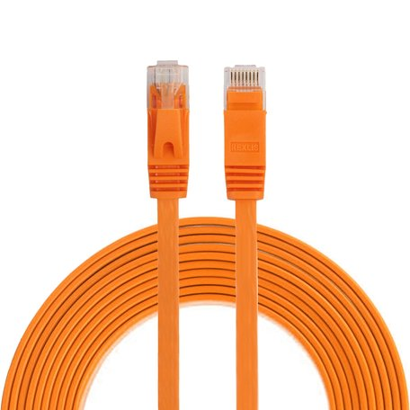 3m CAT6 Ultra dunne Flat Ethernet netwerk LAN kabel (1000Mbps) - Oranje