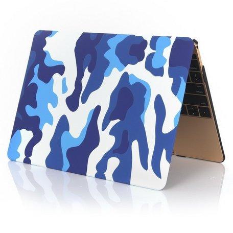 MacBook 12 inch case - Camouflage - Blauw