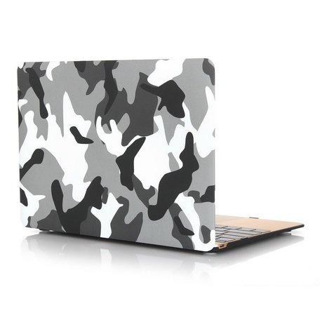 MacBook 12 inch case - Camouflage - Grijs