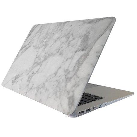 MacBook 12 inch case - Marble - wit