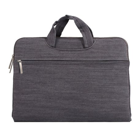 Denim laptoptas 12 inch - Grijs