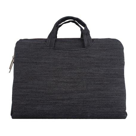 Denim laptoptas 15.4 inch - Zwart