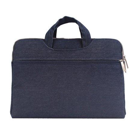 Denim laptoptas 12 inch - Donker blauw