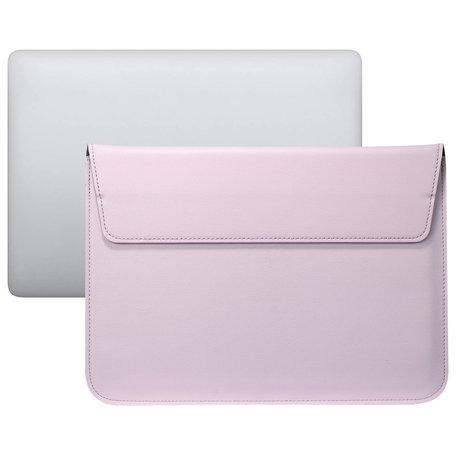 13 inch PU Leer envelop sleeve met standaard - Roze