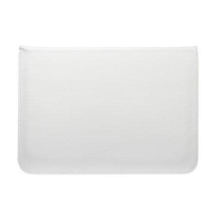 13 inch PU Leer envelop sleeve met standaard - Wit