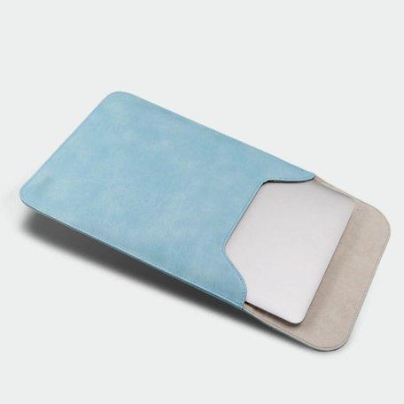 13 inch PU Leer Sleeve - Blauw