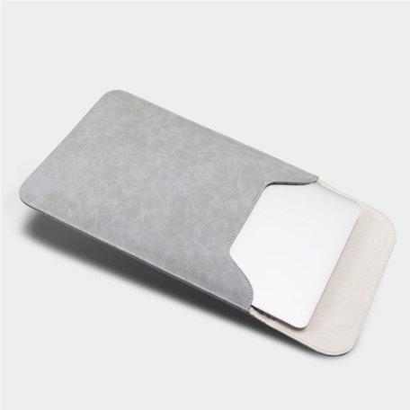 13 inch PU Leer Sleeve - Grijs