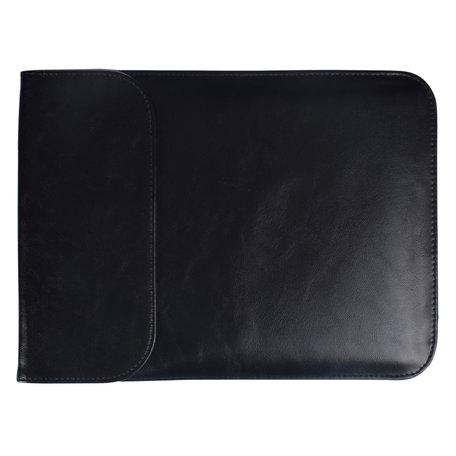 13 inch PU Leer Sleeve - Zwart