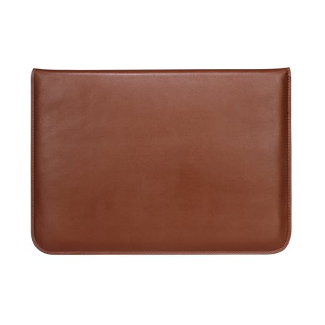 13 inch PU Leer envelop sleeve met standaard - Bruin
