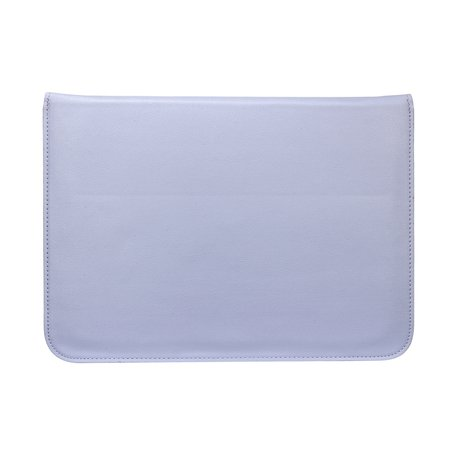 13 inch PU Leer envelop sleeve met standaard - Paarsblauw