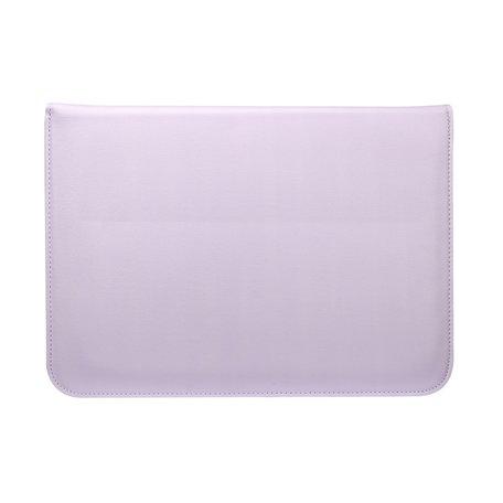 13 inch PU Leer envelop sleeve met standaard - Lila