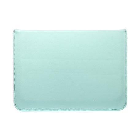 13 inch PU Leer envelop sleeve met standaard - Mint Groen