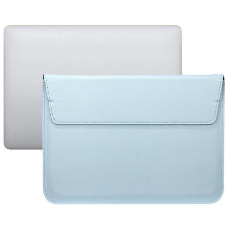 13 inch PU Leer envelop sleeve met standaard - Licht Blauw