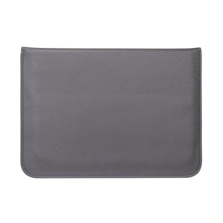 13 inch PU Leer envelop sleeve met standaard - Donkergrijs