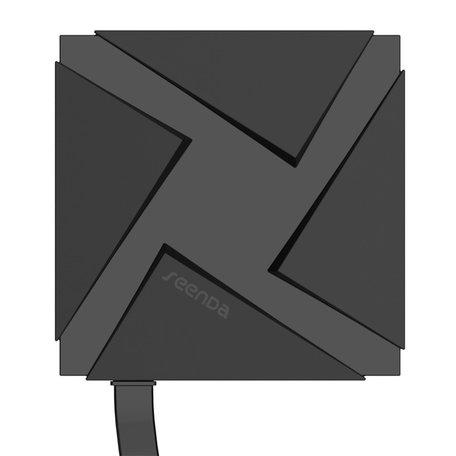 Seenda Type-C USB naar USB female hub voor MacBook 12 inch - zwart
