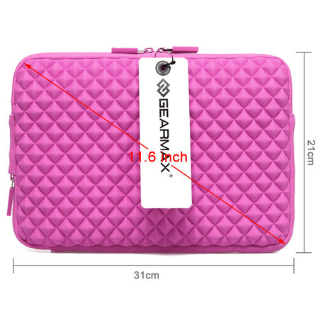 GEARMAX Diamond Grain 11.6 inch Sleeve - Roze