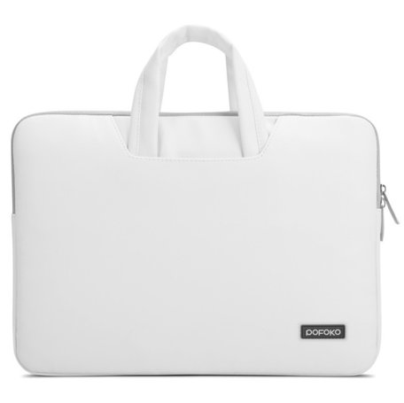 POFOKO 15.4 inch laptoptas - Wit