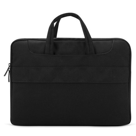 POFOKO 15.4 inch laptoptas met schouderband - Zwart