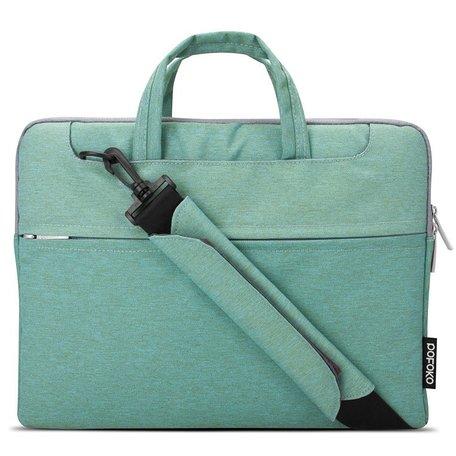 POFOKO 13.3 inch laptoptas met schouderband - Groen