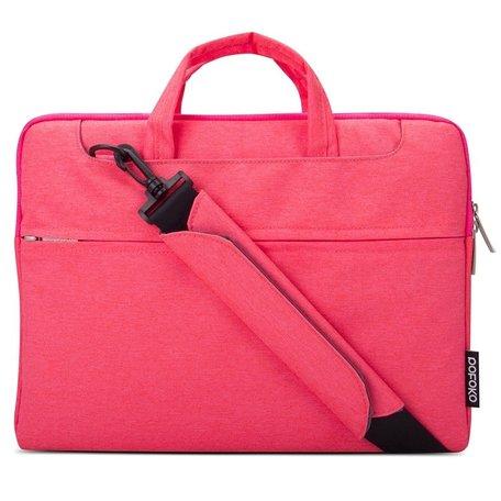 POFOKO 13.3 inch laptoptas met schouderband - Magenta