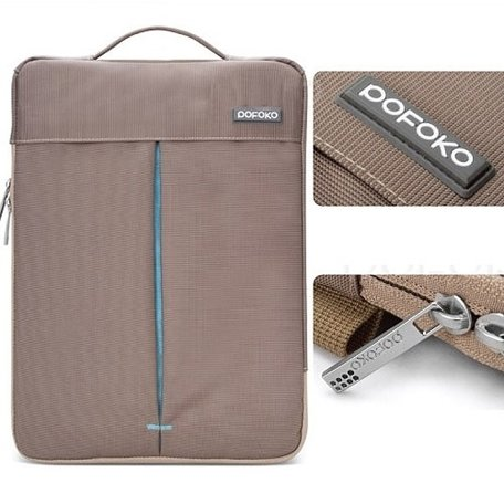 POFOKO 13.3 inch portable laptoptas - Bruin